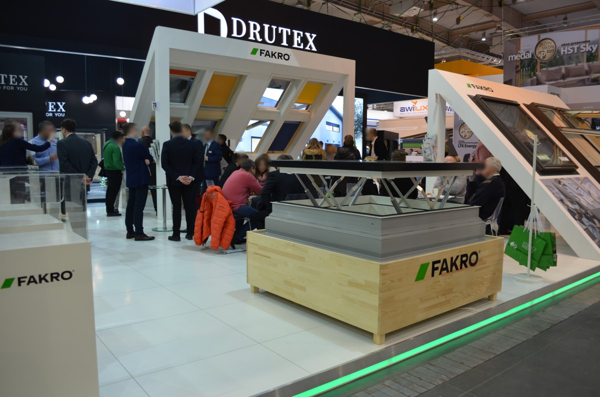 Company stand FAKRO Sp. z o.o. on trade show BUDMA 2017