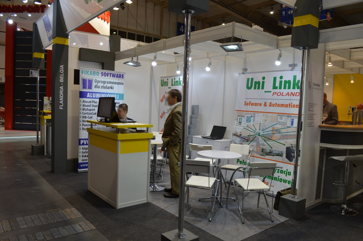Company stand UNILINK BVBA on trade show BUDMA 2017