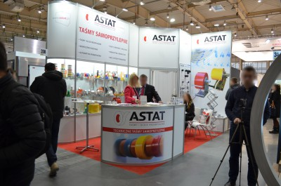 Company stand ASTAT Sp. z o.o. on trade show BUDMA 2017