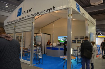 Company stand HALTEC HALE Sp. z o.o. on trade show BUDMA 2017
