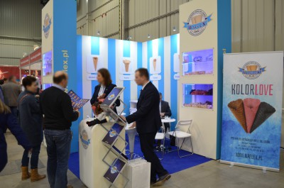 Company stand Waflex on trade show ExpoSWEET 2017