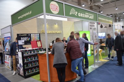 Company stand Greinplast Sp. z o.o. on trade show INTERBUD 2017