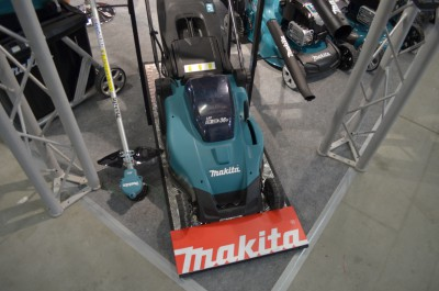 Company stand Makita Sp. z o.o. on trade show AGROTECH & LAS-EXPO 2017