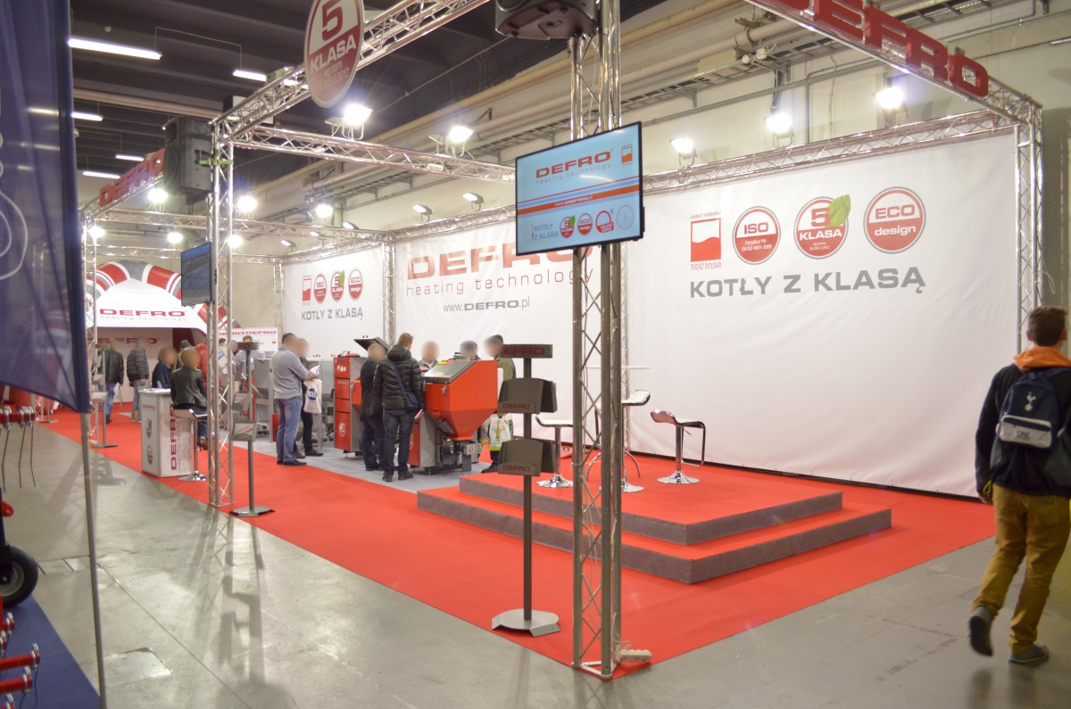 Company stand DEFRO Sp. z o.o. on trade show AGROTECH & LAS-EXPO 2017