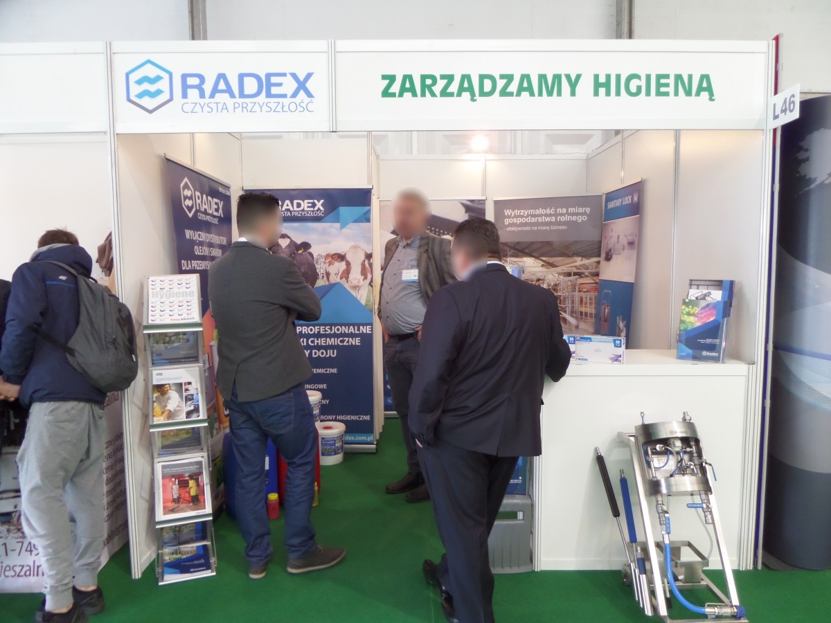 Company stand RADEX on trade show AGROTECH & LAS-EXPO 2017