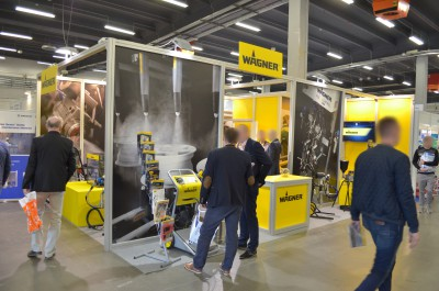 Company stand WAGNER-SERVICE on trade show EXPO-SURFACE 2017